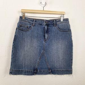 JAG Blue Stretch Denim Skirt Size 12